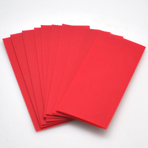 21700 PVC Heat Shrink Wraps - Red