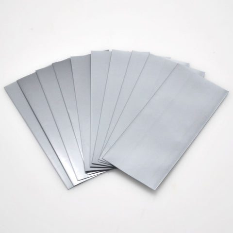21700 PVC Heat Shrink Wraps - 10 pack - Silver