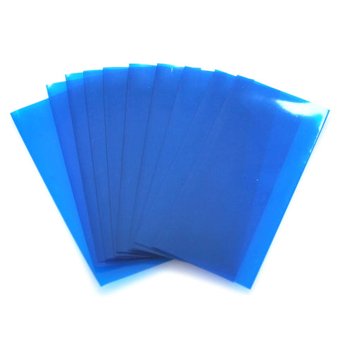 21700 PVC Heat Shrink Wraps - 10 pack - Transparent Blue