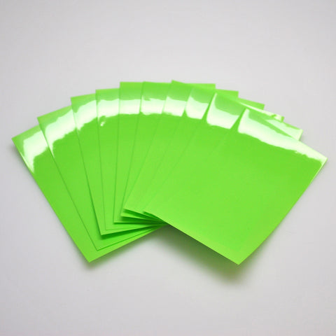 26650 PVC Heat Shrink Wraps - 10 pack - Neon Green