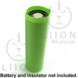 18650 PVC Heat Shrink Wraps - 10 pack - Neon Green