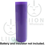 18650 PVC Heat Shrink Wraps - 10 pack - Purple