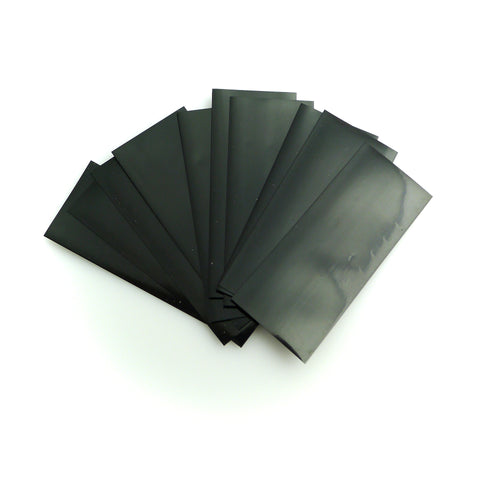 18650 PVC Heat Shrink Wraps - 10 pack - Black
