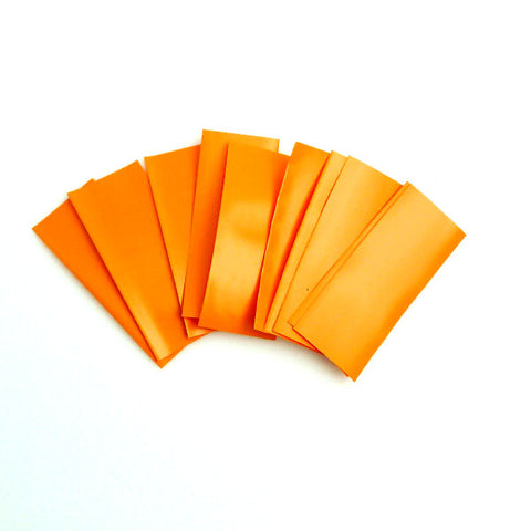 18650 PVC Heat Shrink Wraps - 10 pack - Orange