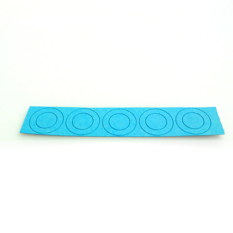 18650 flat top insulator rings - matte blue