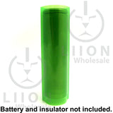 Transparent Green battery wrap on battery side view