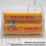 IMREN 18650 3000mAh 15A/35A Flat Top Battery - Case Closed