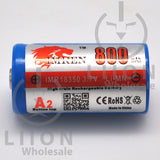 IMREN 18350 800mAh Button Top Battery - side
