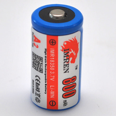 IMREN 18350 800mAh Button Top Battery - Top