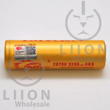 IMREN 20700 3200mAh 25A/40A Flat Top Battery - Authenticity Sticker