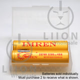 IMREN 20700 3200mAh 25A/40A Flat Top Battery - Case