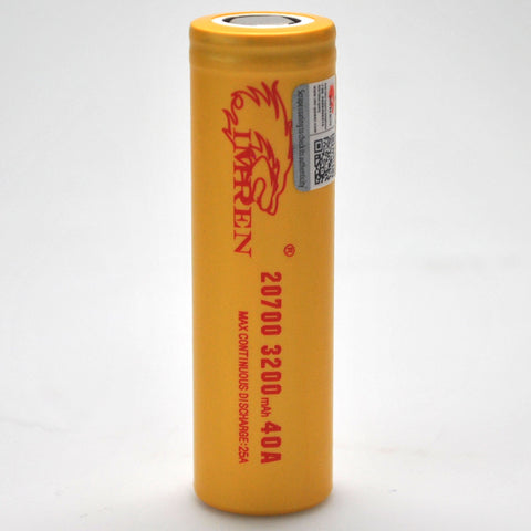 IMREN 20700 3200mAh 25A/40A Flat Top Battery