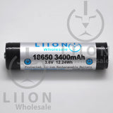Protected LG F1L 3400mAh 5A Li-ion 18650 Button Top Battery - Side