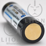 Protected 2600mAh 10A 18650 Button Top Battery - Negative