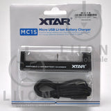 XTAR MC1S Battery Charger - Packaging