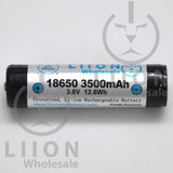 Protected LG MJ1 3500mAh 10A 18650 Button Top Battery - Side