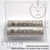 Molicel/NPE P26A 35A 2600mAh Flat Top 18650 Battery - Authorized Distributor (INR-18650-P26A) - Case