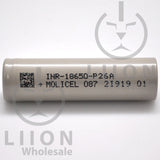 Molicel/NPE P26A 35A 2600mAh Flat Top 18650 Battery - Authorized Distributor (INR-18650-P26A) - Side