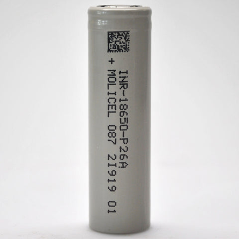 Molicel/NPE P26A 35A 2600mAh Flat Top 18650 Battery - Authorized Distributor (INR-18650-P26A)