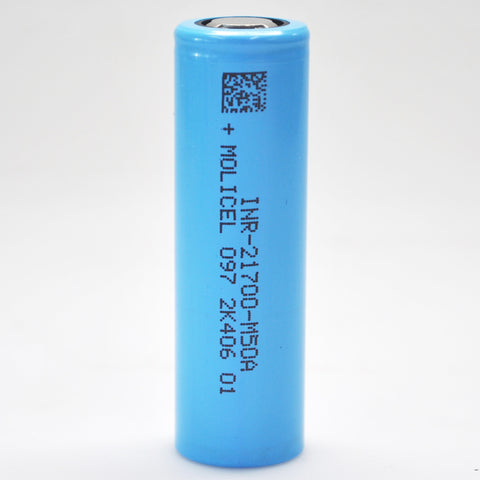 Molicel/NPE INR-21700-M50A 15A 5000mAh Flat Top 21700 Battery - Authorized Distributor