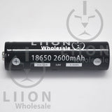 Liion Wholesale BUTTON Top Molicel INR-18650-P26A 35A 2600mAh 18650 Battery - Side