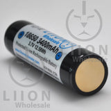 Protected Panasonic NCR18650B 3400mAh 5A Li-ion 18650 Button Top Battery - Negative