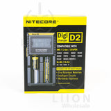 Nitecore D2 Digicharger in box