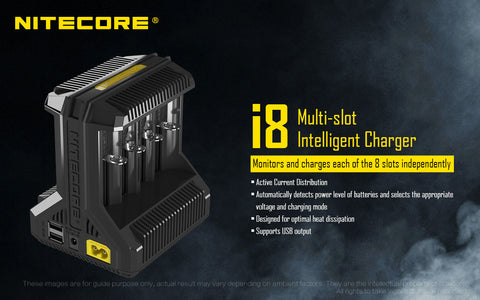 Nitecore Intellicharger I8 8 Bay Li-ion Battery Charger