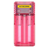 Nitecore Q2 2-bay Digital Lithium Ion Battery Charger - Pink