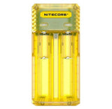 Nitecore Q2 2-bay Digital Lithium Ion Battery Charger - Yellow