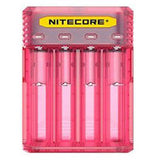Nitecore Q4 4-bay Digital Lithium Ion Battery Charger - Pink