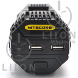 Nitecore V2 2-Bay In-Car Lithium Ion Battery Charger - Ports
