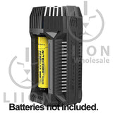 Nitecore V2 2-Bay In-Car Lithium Ion Battery Charger - With Battery