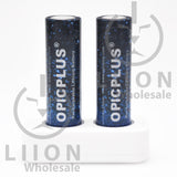 OpicPlus AA Size Button Top 2800mWh 1.5V Battery - 2x in charger