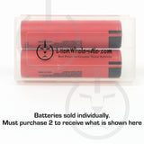 Authentic NCR18650GA lithium ion battery pair in case