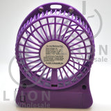 mini fan - purple back