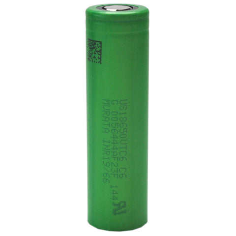Sony/Murata VTC6 15A-30A 3000mAh Flat Top 18650 Battery