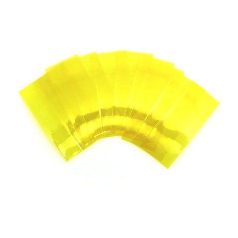 Transparent yellow battery wrap 10 pack