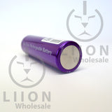 Vapcell 20700 Purple 30A Flat Top 3000mAh Battery - bottom view