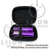 Vapcell 20700 Purple 30A Flat Top 3000mAh Battery - pair in case