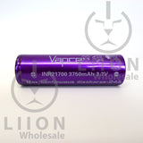 Vapcell 21700 24A Flat Top 3750mAh Battery - side
