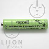Vapcell 10440 3A Button Top 320mAh Battery - Side