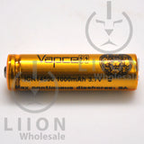 Vapcell 14500 Gold/Black 3A Flat Top 1000mAh Battery - Side