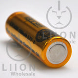 Vapcell 14500 Gold/Black 3A Flat Top 1000mAh Battery - Negative