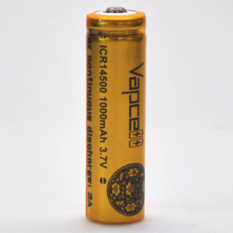 Vapcell 14500 Gold/Black 3A Button Top 1000mAh Battery