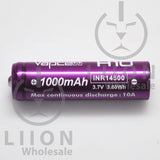 Vapcell 14500 Purple/White 10A Button Top 1000mAh Battery - Side