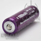 Vapcell 14500 Purple/White 10A Button Top 1000mAh Battery - Positive