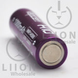 Vapcell 14500 Purple/White 10A Button Top 1000mAh Battery - Negative