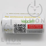Vapcell 16340 7A Button Top 800mAh Battery - Side