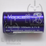 Vapcell 18350 9A Flat Top 1100mAh Battery - Side